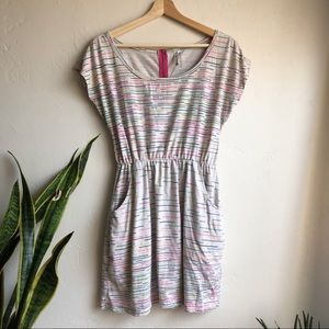 O'Neill Rainbow Stripe Zip-back Short Dress